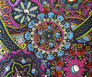 colors, flowers, and hippie image