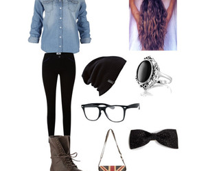 outfit, hipster, and boots image
