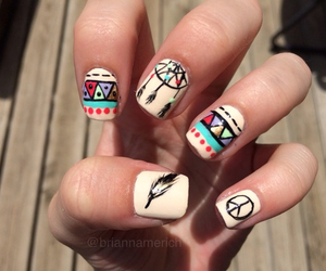 nails, peace, and hippie image