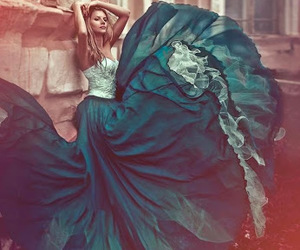 dress, green, and photography image