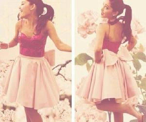 ariana grande, dress, and pink image
