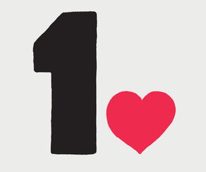 1, heart, and one love image