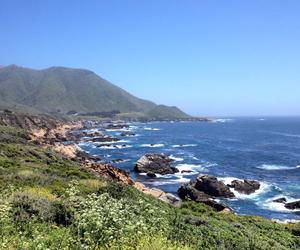 big sur, ocean, and california image