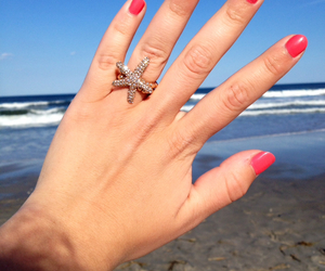 beach, jewelry, and ocean image
