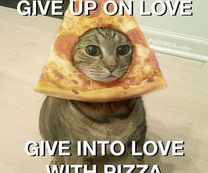 give up, pizza, and love image