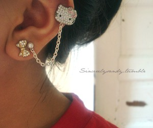 hello kitty and earrings image
