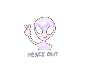 alien, peace, and tumblr image