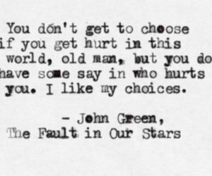 john green, the fault in our stars, and quote image