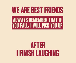 friends, funny, and best friends image