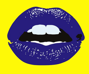 lips, blue, and wallpaper image