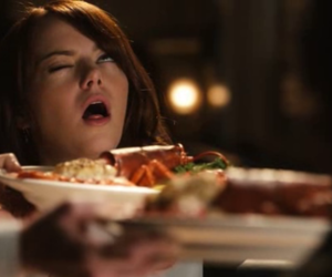 emma stone, easy a, and food image