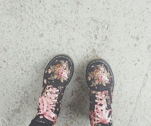 boots, floral, and drmartens image