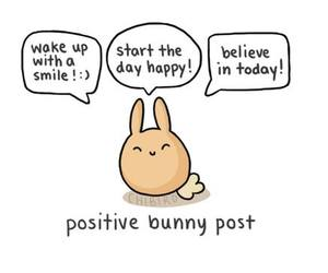bunny, positive, and smile image