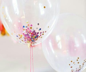 balloons, glitter, and party image