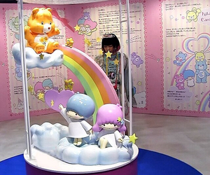 carebear, kawaii, and rainbows image