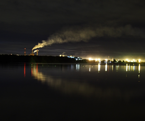 factory, night, and oulu image