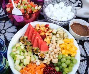 chocolate, fruit, and picnic image