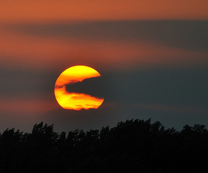 sun, nature, and pacman image