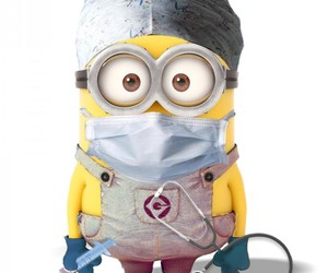 minions, doctor, and minon image