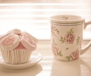 cupcake, pink, and vintage image