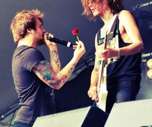 danny worsnop, ben bruce, and asking alexandria image