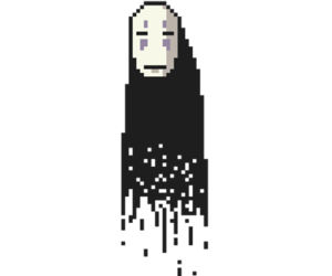 chihiro, no face, and transparent image
