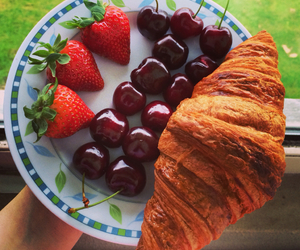 croissant, delicious, and food image