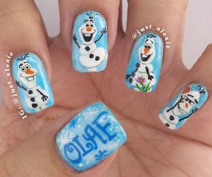 olaf, frozen, and nails image
