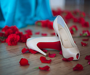 shoes, heels, and rose image