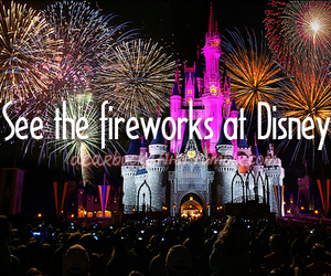 fireworks, disney, and bucket list image