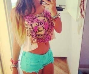 shorts, summer, and outfit image