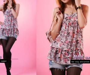 blouse, fashion, and floral image