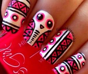 hipster, nail art, and nails image