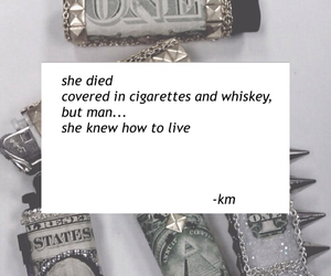 girl, cigarette, and whiskey image