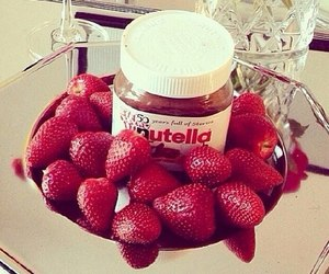 fruit, nutella, and food image