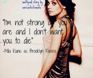 Mila Kunis, quote, and wattpad story image