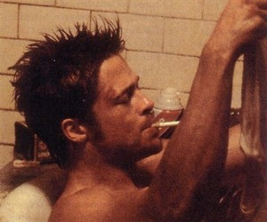 durden, brad pitt, and fight club image