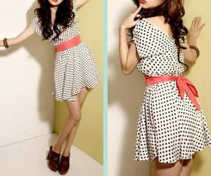 bow, dots, and dress image