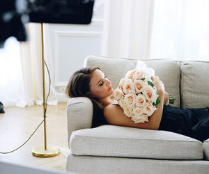 flowers, natalie portman, and roses image