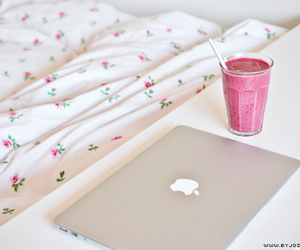 apple, pink, and drink image
