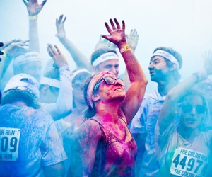 color run, fest life, and fun image