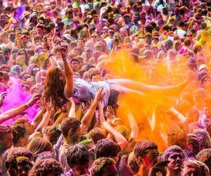 girl, fun, and festival image
