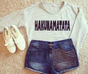 fashion, outfit, and hakunamatata image