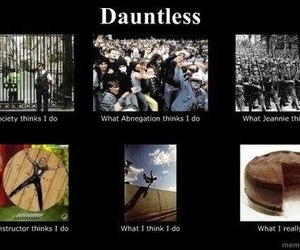dauntless, divergent, and cake image