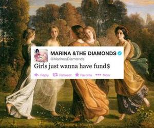 marina and the diamonds, girl, and lady image