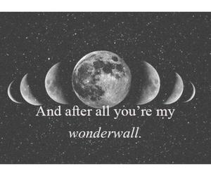 wonderwall, moon, and oasis image