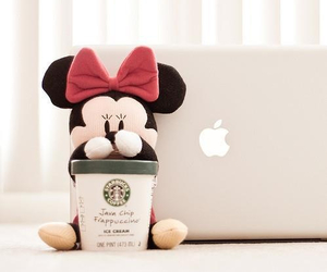laptop, minnie mouse, and yummy image