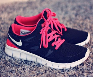 black, nike, and pink image