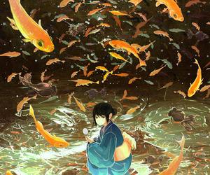 anime, fish, and art image