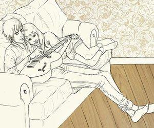 boy, cuddle, and girl image